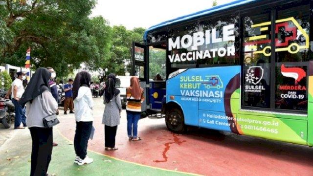Ingin Segera Belajar Tatap Muka, Pelajar Antusias Vaksin Lewat Mobile Vaccinator