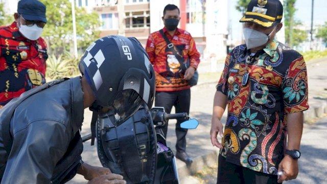 Patroli Penegakan PPKM di Gowa, Masih Ditemukan Warga Tak Gunakan Masker