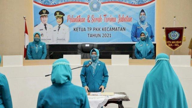 Indira Yusuf Ismail Lantik 14 Ketua TP PKK Kecamatan, Ini Pesannya