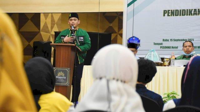 Anggota DPRD Makassar, Rachmat Taqwa Quraisy sosialisasikan Perda Pendidikan Baca Tulis Al-Qur'an, di Hotel Pessona, Rabu (15/9/2021).
