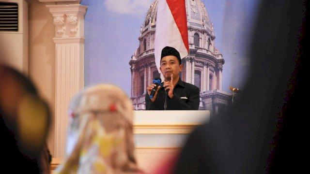 Anggota DPRD Makassar, Kasrudi sosialisasikan Perda Perlindungan, Pemberdayaan Pasar Tradisional dan Penataan Pasar Modern, di Hotel Grand Town, Jumat (24/9/2021).