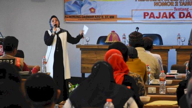 Legislator Gerindra Makassar, Nunung Dasniar sosialisasikan Perda Pajak Daerah, di Hotel D'Maleo, Minggu (26/9/2021).