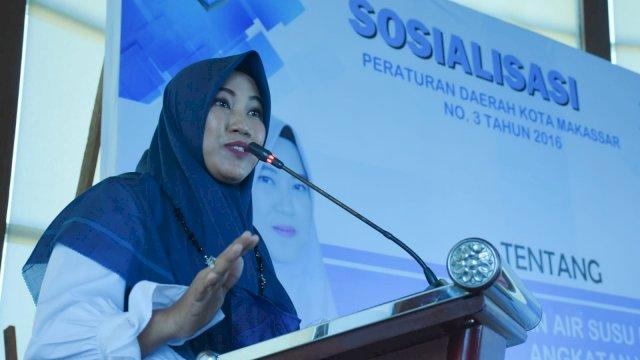 Ketu Fraksi Demokrat Makassar, Fatma Wahyuddin sosialisasikan Perda Pemberian ASI Ekslusif, di Hotel Aston, Kamis (30/9/2021).