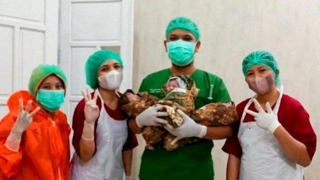 Bayi kembar tiga lahir di RS Sinar Kasih Tana Toraja. (int)