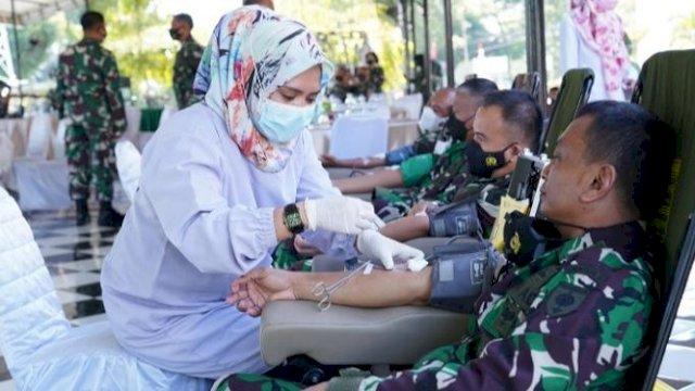 Kodam Hasanuddin Gelar Donor Darah, Terkumpul 542 Kantong Darah