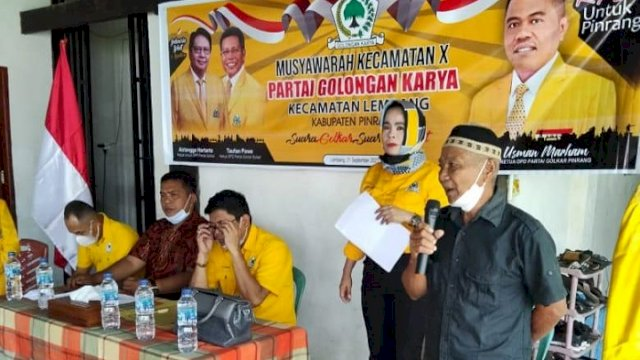 Dimulai dari Lembang, Golkar Pinrang Gelar Konsolidasi Kecamatan