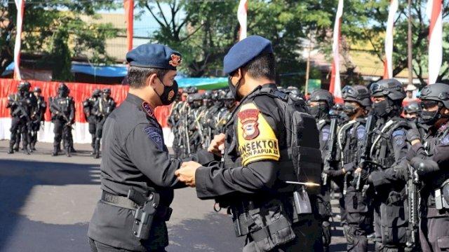 Bantu Pengamanan PON Papua, Polda Sulsel Kirim 201 Personel Satbrimob