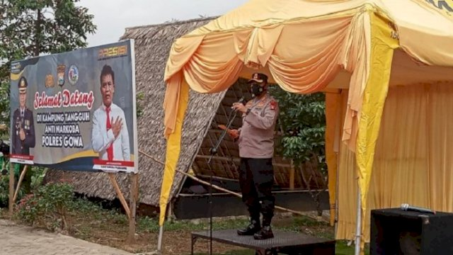 Kapolres Gowa Resmikan Kampung Tangguh Anti Narkoba di Desa Bontoala