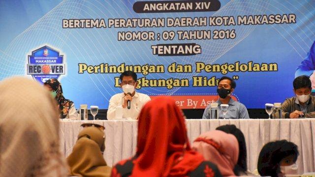 Legislator NasDem Makassar, M Yahya sosialisasikan Perda Perlindungan dan Pengelolaan Lingkungan Hidup, di Hotel Harper, Sabtu (2/10/2021).