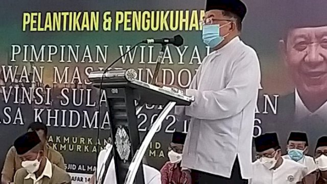 Ketua Umum Dewan Masjid Indonesia (DMI) Jusuf Kalla.