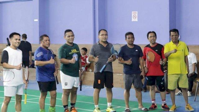 Badminton Bareng Legislator Makassar, Danny: Ini Kombinasi Menyatukan Warna