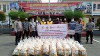 Bersinergi Koperasi Sahabat Mitra Sejati, Polres Gowa Salurkan 100 Paket Sembako untuk Warga