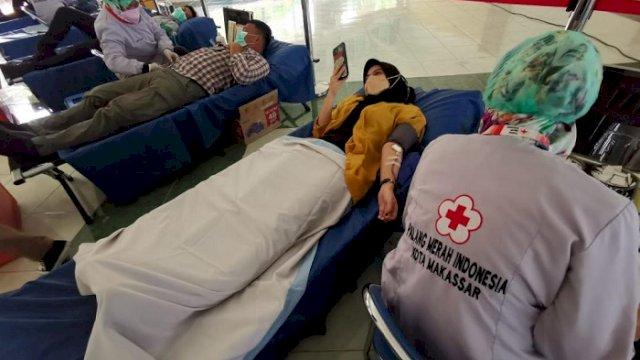 Kumpulkan 110 Kantong Darah, Ketua PMI Makassar Apresiasi GMTD