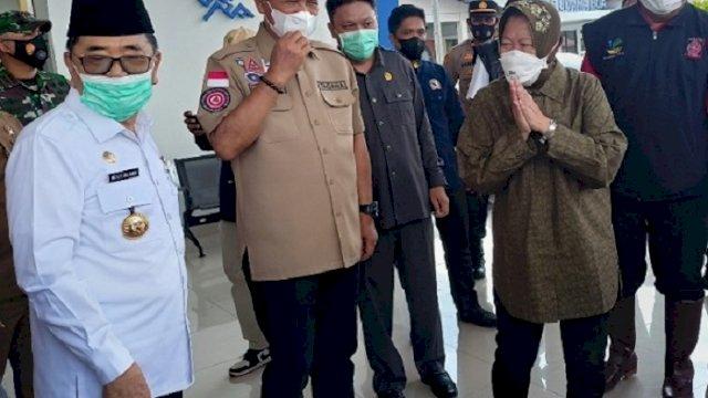 Mensos Risma Kunjungi Lokasi Bencana di Luwu, Janjikan Bangun Baper Stok di 8 Titik