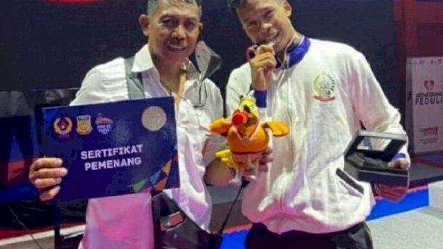 Zesar Idrus berhasil meraih Medali Perak pada Pekan Olahraga Nasional (PON) XX Papua.